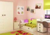 Habitación convertible versión infantil en color blanco puro