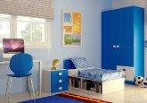 Habitación infantil a tu medida en colores blanco puro y azul