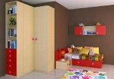 Habitación infantil a tu medida en colores arce y rojo