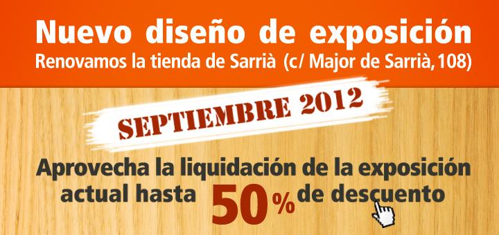 , Muebles exposición tienda de Sarrià: hasta 50% de descuento