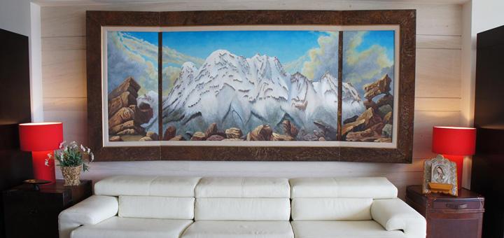 Dale estilo a tus paredes decorando con cuadros 3p mobel for Decoracion salon grande
