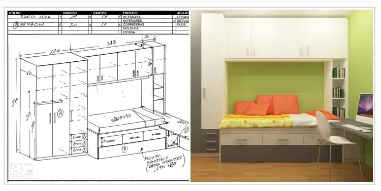 Proyectos 3d 3p mobel 3p mobel - Medidas de camas infantiles ...