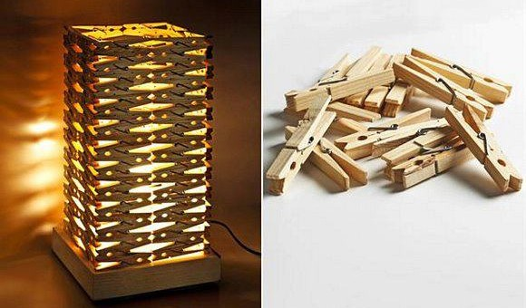 , DIY: lámpara con pinzas de tender
