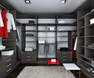 mueble_armario_vestidor_3_paredes_estantes_cajones_barras_zapateros_antracita